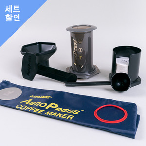 에어로프레스 세트 (토트백포함) Aeropress With Metal Filter+Red Seal Ring Set